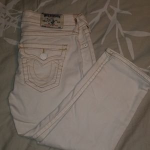 True Religion Cream colored Capris size 26